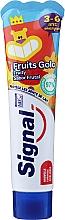 Parfumuri și produse cosmetice Pastă de dinți cu aromă de fructe, pentru copii de la 3 la 6 ani - Signal Kids Fruit Flavor Toothpaste