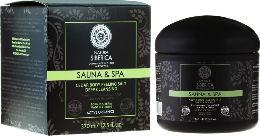 """Sare-peeling de cedru pentru corp """"Detox"""" - Natura Siberica Sauna&SPA"""