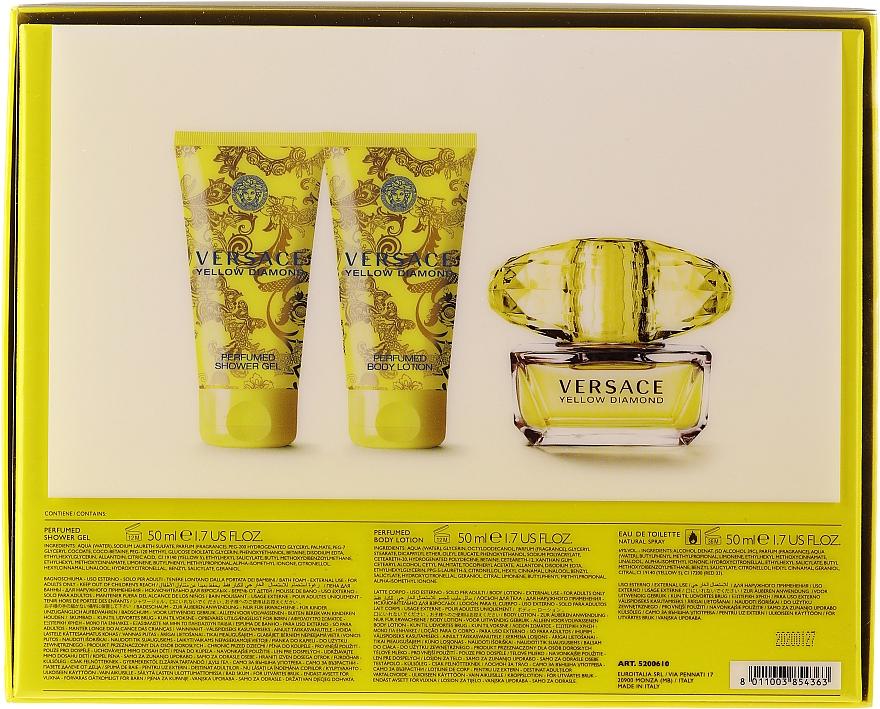 Versace Yellow Diamond - Set (edt/50ml + b/lot/50ml + sh/gel/50ml) — Imagine N2