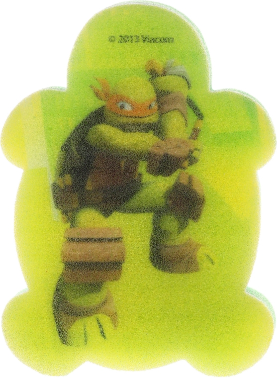 Burete de baie pentru copii Michelangelo 1 - Suavipiel Turtles Bath Sponge — Imagine N1
