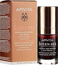 Parfumuri și produse cosmetice Cremă cu lăptișor de matcă în lipozomi pentru zona ochilor - Apivita Queen Bee Holistic Age Defence Eye Cream