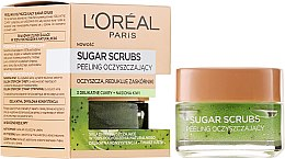 Parfumuri și produse cosmetice Scrub exfoliant cu zahar pentru ten - L'Oreal Paris Sugar Scrubs