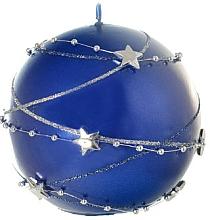 Parfumuri și produse cosmetice Lumânare decorativă, bilă albastră, 10 cm - Artman Christmas Garland