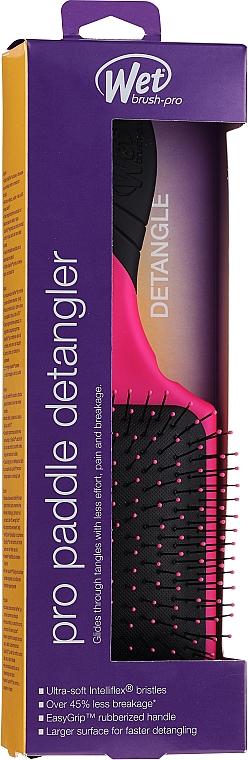 Perie de păr, roz - Wet Brush Pro Paddle Detangler Pink — Imagine N1
