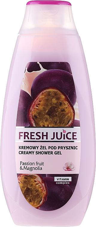 """Gel-cremă de duș """"Maracuya Juice and Magnolia"""" - Fresh Juice Creamy Shower Gel Passion Fruit & Magnolia"""