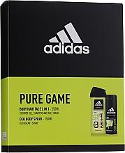 Parfumuri și produse cosmetice Adidas Pure Game - Set (deo/spray/150ml + sh/gel/250ml)