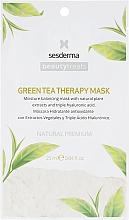 Parfumuri și produse cosmetice Mască hidratantă cu ceai verde - SesDerma Laboratories Beauty Treats Green Tea Therapy Mask