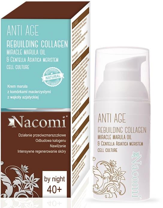 Cremă de noapte pentru față - Nacomi Anti Age Rebuilding Collagen Cream 40+ — Imagine N1