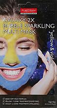 """Parfumuri și produse cosmetice Bubble-mască de argilă """"Galben / Albastră"""" - Purederm Galaxy 2X Bubble Sparkling Multi Mask"""