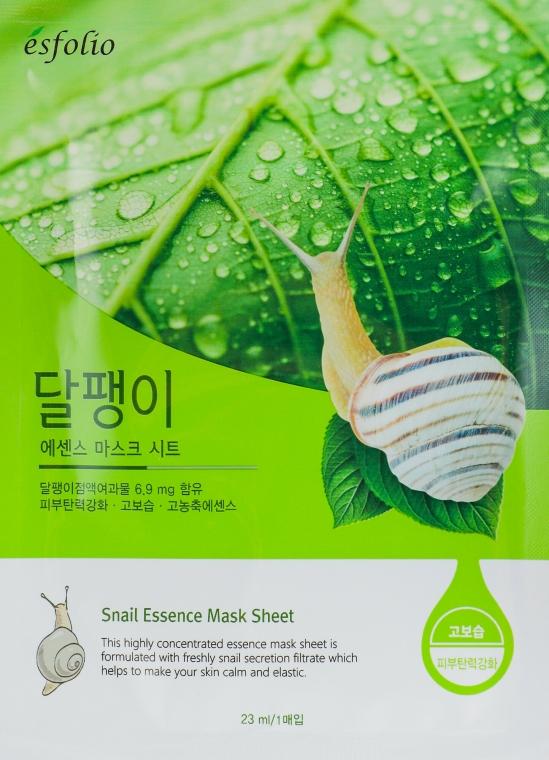 """Mască din țesătură """"Filtrat de melc"""" - Esfolio Snail Essence Mask Sheet"""