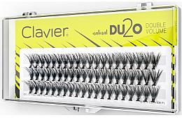 """Parfumuri și produse cosmetice Gene false """"Volum dublu"""", 14 mm - Clavier DU2O Double Volume"""