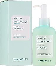 Parfumuri și produse cosmetice Gel-spumă de curățare pentru ten sensibil - Thank You Farmer Back To Pure Foaming Gel Cleanser