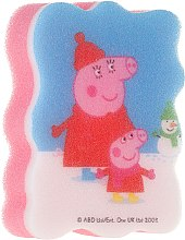 """Parfumuri și produse cosmetice Burete de baie pentru copii """"Peppa Pig"""", Iarna - Suavipiel Peppa Pig Bath Sponge"""