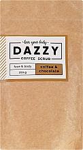 """Parfumuri și produse cosmetice Scrub de cafea pentru față și corp """"Cafea și Ciocolată"""" - Dazzy Coffee Face & Body Scrub Coffee & Chocolate"""