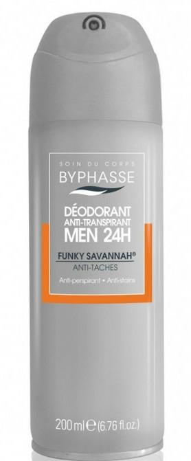 Deodorant - Byphasse Men 24h Anti-Perspirant Deodorant Funky Savannah Spray — Imagine N1