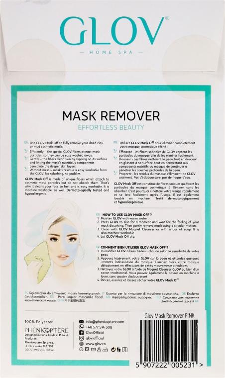 Mănușă de curățare pentru față, roz - Glov Mask Remover  — Imagine N2