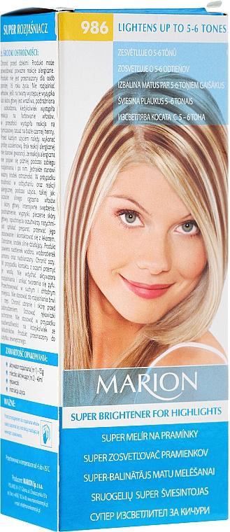 Decolorant pentru păr №986 - Marion Super Brightener