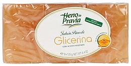 Parfumuri și produse cosmetice Set - Heno De Pravia Glycerin (3 x soap/125g)