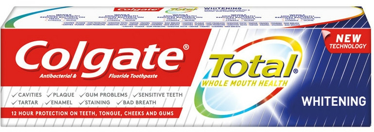 Pastă de dinți - Colgate Total Whitening Toothpaste New Technology — Imagine N1
