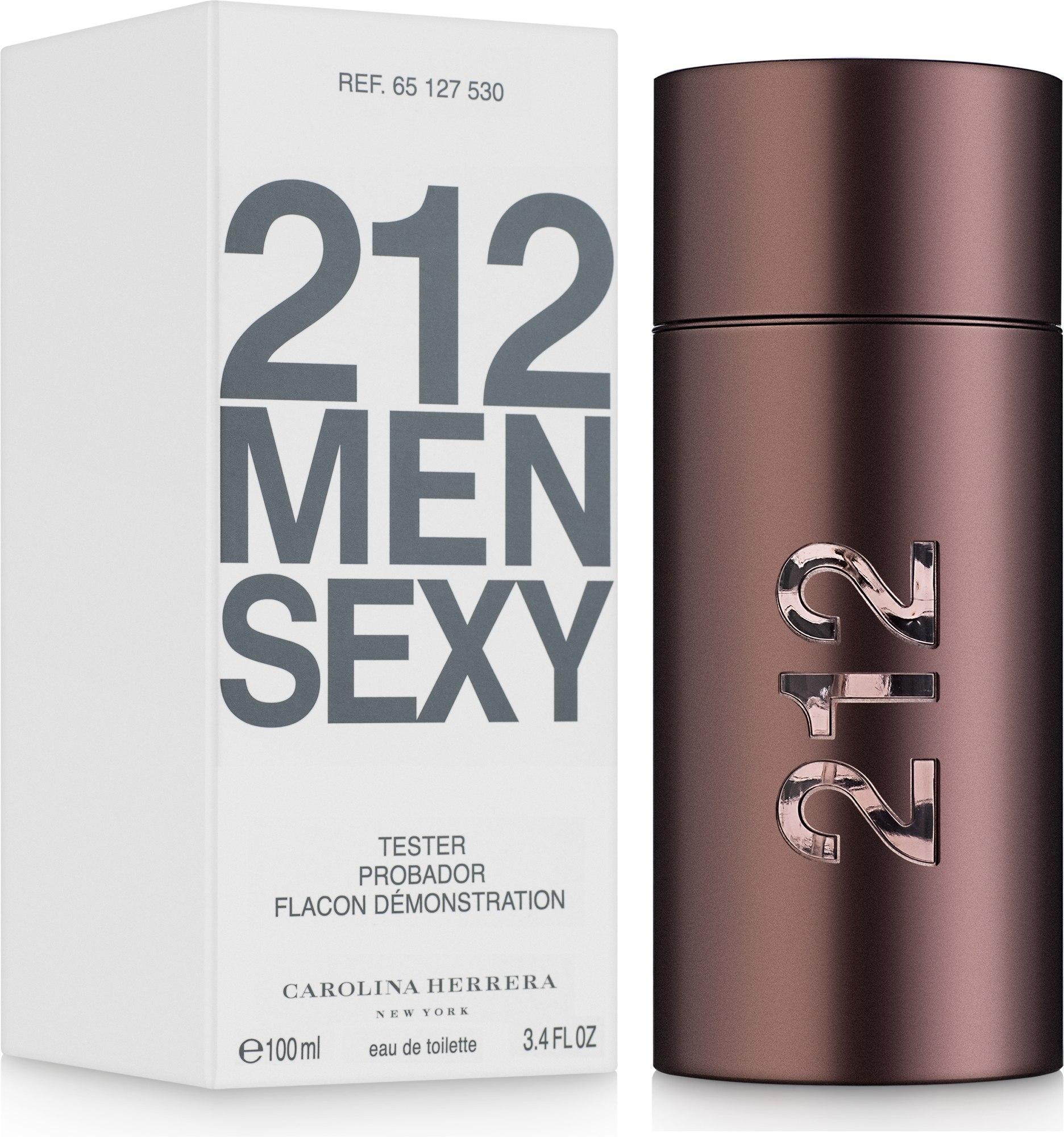 Carolina Herrera 212 Sexy Men - Apă de toaletă (tester cu capac) — Imagine 100 ml