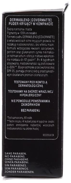 Pudră de față, cu efect matifiant - Vichy Dermablend Covermatte Compact Powder SPF 25 — Imagine N3