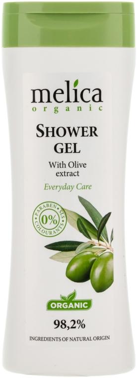 Gel de duș cu extract de olive - Melica Organic Shower Gel — Imagine N1