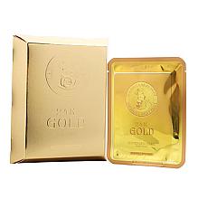 Parfumuri și produse cosmetice Mască din țesătură cu aur și mucină de melc pentru față - Elizavecca 24k Gold Water Dew Snail Mask