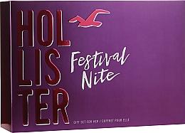 Parfumuri și produse cosmetice Hollister Festival Nite For Her - Set (edp/100ml + b/lot/100ml + acc)