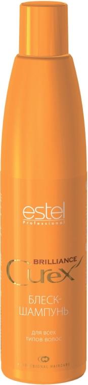 Șampon-luciu pentru toate tipurile de păr - Estel Professional Curex Brilliance Shampoo — Imagine N1