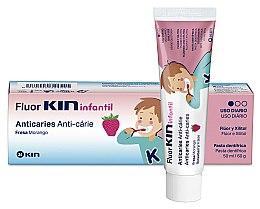 Parfumuri și produse cosmetice Pastă de dinți pentru copii - Kin Fluorkin Infantil Strawberry Anticaries Toothpaste For Children