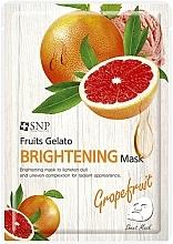 Parfumuri și produse cosmetice Mască radiantă cu extract de grapefruit pentru față - SNP Fruits Gelato Brightening Mask