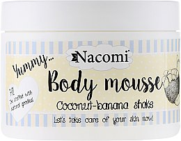 "Parfumuri și produse cosmetice Mousse de corp ""Coconut-banana shake"" - Nacomi Body Mousse Coconut-Banana Shake"
