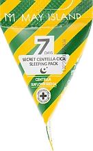 Parfumuri și produse cosmetice Mască de noapte cu centella asiatica pentru față - May Island Seven Days Secret Centella Cica Sleeping Pack