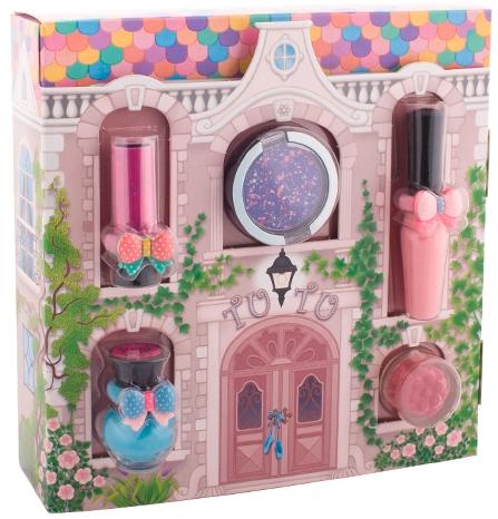Set - Tutu Cottage set (balm/4ml+gloss/lip/7ml+polish/5ml+eye/cheek/shadow/4,5ml+eye/lip/cheek/shadow/4,5ml) (04-Turquoise Pointe)