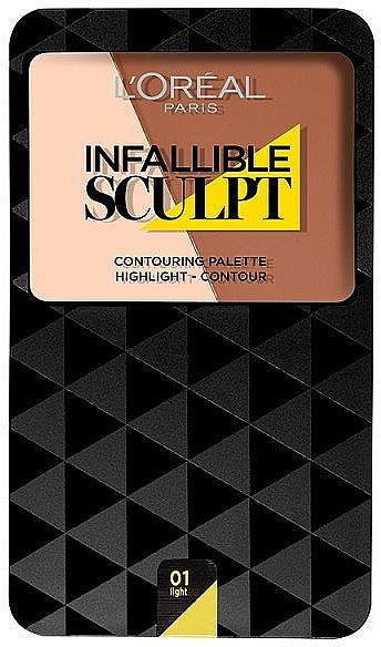 Paletă de contur - L'Oreal Paris Infallible Sculpt Contouring Palette