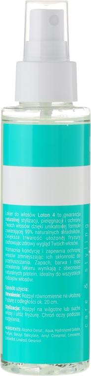 Fixativ natural - Loton 4 Hairspray — Imagine N2