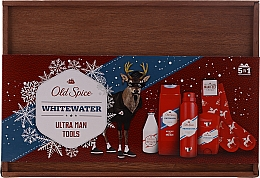Parfumuri și produse cosmetice Set - Old Spice Whitewater Wooden (deo/50g + sh/gel/250ml + ash/lot/100ml + deo/spray/150ml)