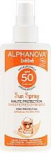 Spray protecție solară pentru copii SPF 50+ - Alphanova Baby Sun Protection Spray SPF 50 — Imagine N1