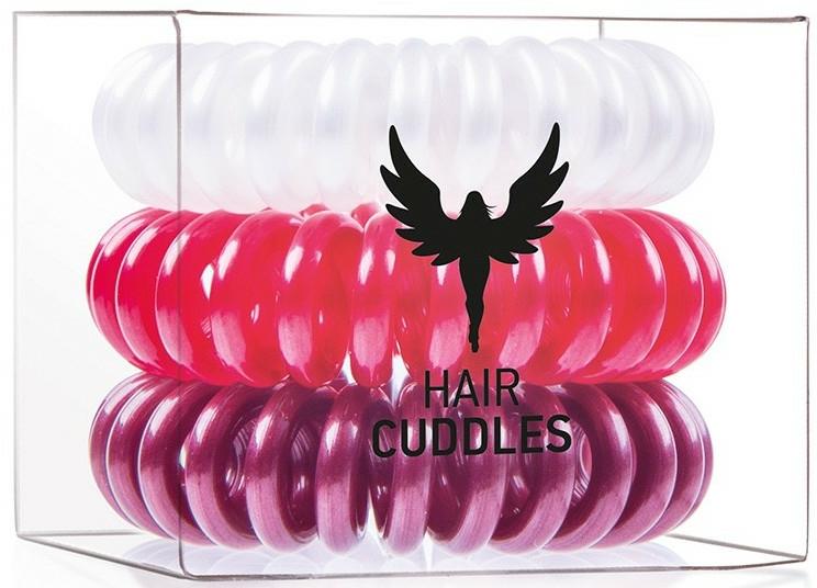 Elastic de păr - HH Simonsen Hair Cuddles Red, Dark Red, Pearl — Imagine N1