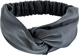 "Parfumuri și produse cosmetice Bentiță din tricotaj, gri ""Knit Twist"" - MakeUp Hair Accessories"