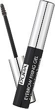 Parfumuri și produse cosmetice Gel transparent de fixare pentru sprâncene - Pupa Transparent Eyebrow Fixing Gel