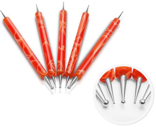 Set accesorii pentru designul manichiurii, portocaliu - Silcare — Imagine N1