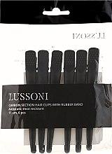 Parfumuri și produse cosmetice Clește pentru păr, negre - Lussoni