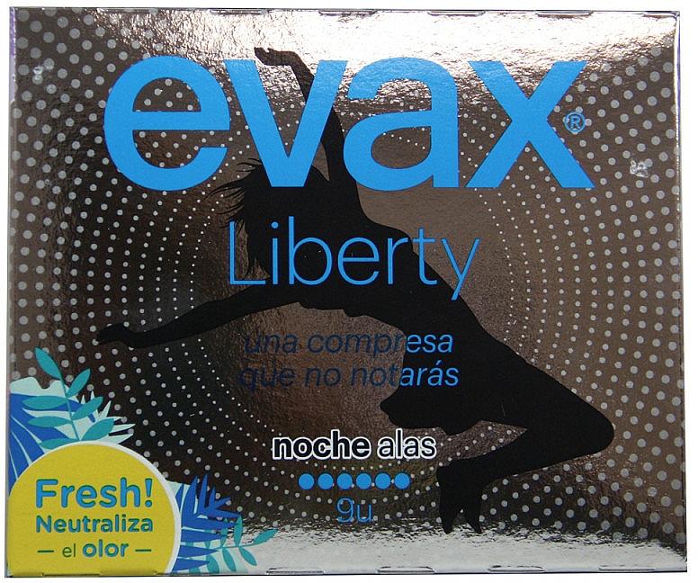 Absorbante de noapte cu aripi, 9buc - Evax Liberty — Imagine N1