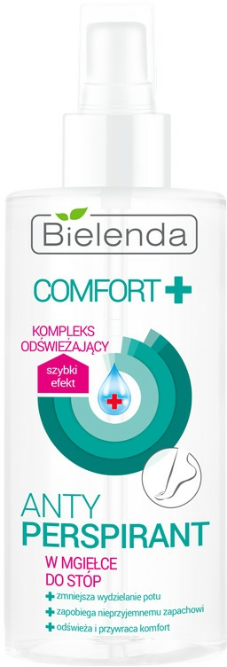 Spray antiperspirant pentru picioare - Bielenda Comfort Foot Antiperspirant Spray Mist