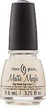 Parfumuri și produse cosmetice Lac de unghii, mat - China Glaze Mate Magic Top Coat