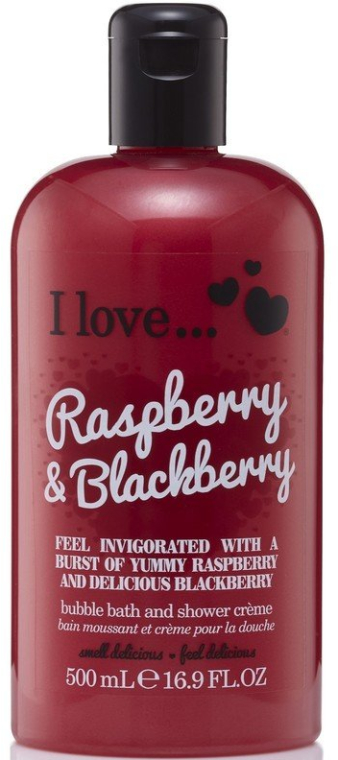 Spumă de duș - I Love... Raspberry & Blackberry Bubble Bath And Shower Creme