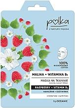 """Parfumuri și produse cosmetice Mască de țesătură """"Zmeură și Vitamina B3"""" - Polka Raspberry And Vitamin B3 Facial Sheet Mask"""