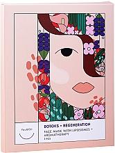"""Parfumuri și produse cosmetice Mască de față """"Botox + regenerare cu lipozomi + aromoterapie"""" - You & Oil Triple Pack Face Mask Botoks + Regeneration With Liposomes + Aromatherapy"""