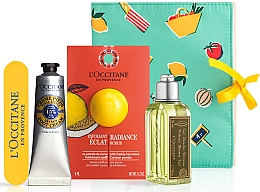 Set - L'Occitane Verbena (sh/gel/75ml + scrub/6ml + foot/cr/30ml + nail/file) — Imagine N1